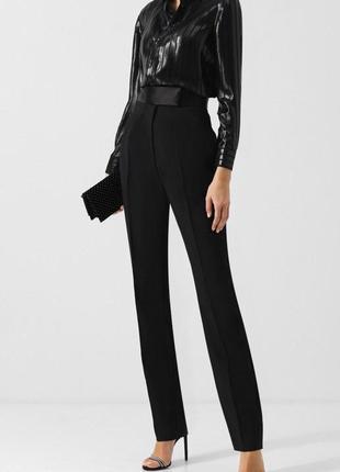 Черные классические брюки со стрелками на талии штаны с высоко...