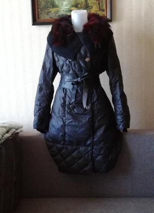 Зимний пуховик пальто размер м minicoloring
