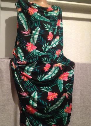 Оригинальное платье с цветочным принтом большой размер.172