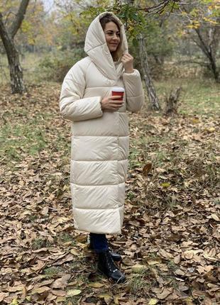 Пуховик-одеяло oversized
