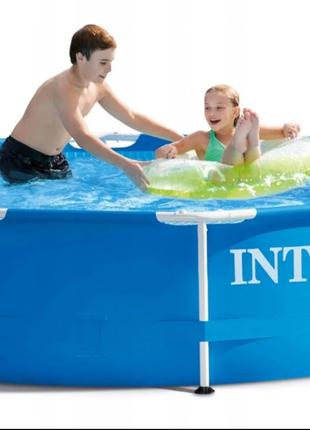 Каркасный круглый бассейн Intex 28202 Metal Frame Pools диамет...