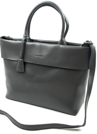 Женская кожаная сумка galanty серая