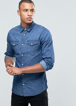 Новая джинсовая деним рубашка