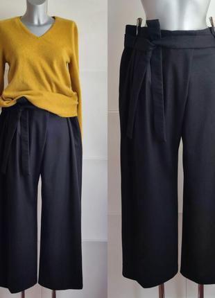 Шерстяные  брюки -кюлоты cos черного цвета