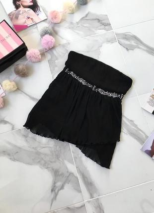 Новый топ блуза плиссе с декором
