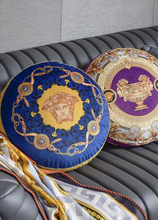 Подушки круглые декоративные Hermes Versace и др