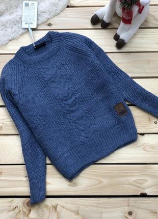 Детский вязаный джемпер свитер для мальчика