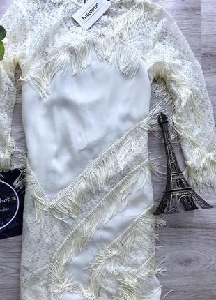 Очень красивое платье кружевное с бахромой