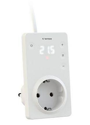Терморегулятор в розетку TERNEO SRZ сенсорный, для отопления