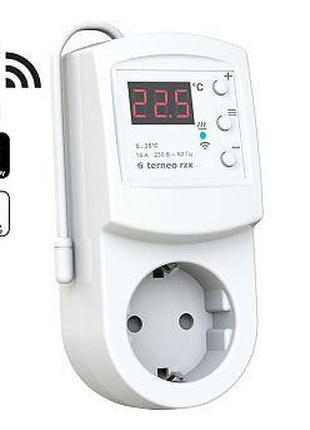 Терморегулятор WI-FI в розетку TERNEO RZX для отопления