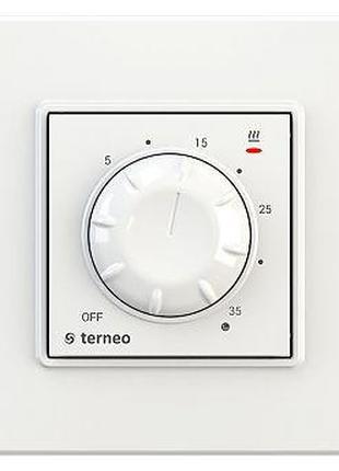 Терморегулятор TERNEO ROL БЕЛЫЙ с датчиком воздуха, для отопления