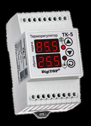 Терморегулятор DigiTOP ТК-5 (двухканальный, датчик DS18B20) DI...