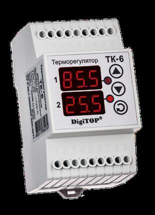 Терморегулятор DigiTOP ТК-6 (двухканальный, датчик DS18B20) DI...