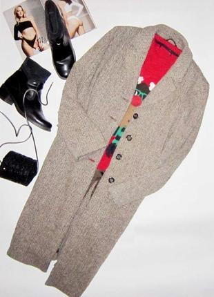 Последнее! новогодняя распродажа! двубортное пальто  миди бойф...