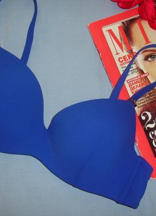 Верх от купальника раздельного бюст чашка 80 в с синий голубой