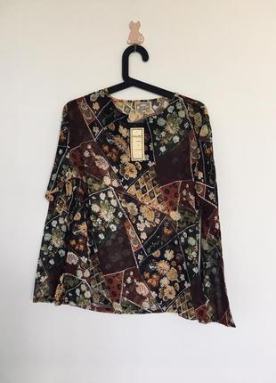 Новая кофта блуза с принтом