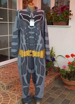 48/50 р  batman  комбинезон пижама кигуруми мужская оригинал