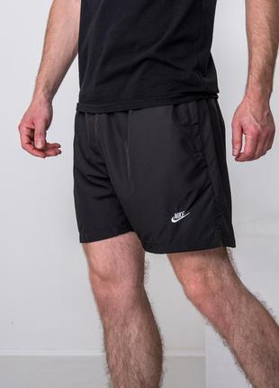 Спортивные черные шорты nike