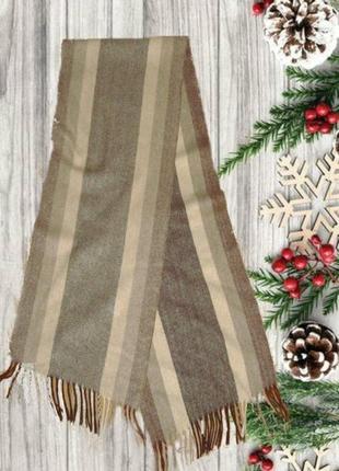 ⛄❄100% кашемир теплый мужской шарф елочка с бахромой ⛄❄⛄