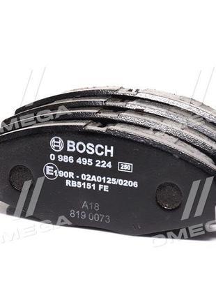 Колодка тормозная DAEWOO LANOS 1.5, MATIZ передняя | Bosch