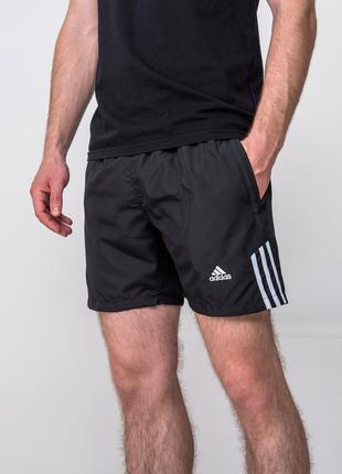 Мужские черные спортивные шорты adidas