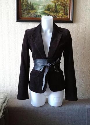 Пиджак из микровельвета размер 36 new look