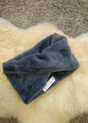 Меховый плюшевый шарф снуд new look