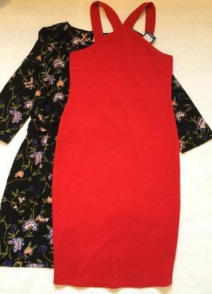 Платье красное по фигуре new look размер 12/14