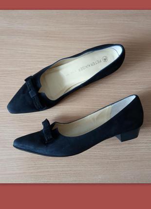 Элегантные замшевые туфли лодочки 6 р. 26,5 см. peter kaiser