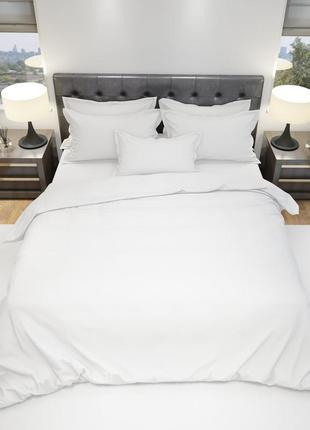Комплект постельного белья белая классика двойной skl77-294139