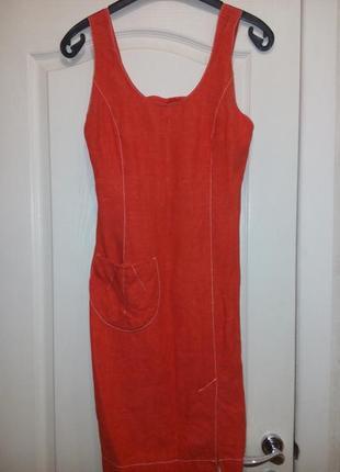 Платье сарафан натуральный лен (44-46)