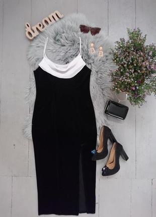 Соблазнительное бархатное вечернее платье №536