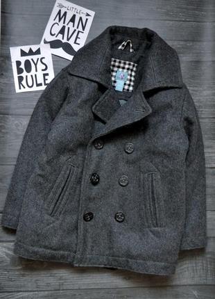 Офигенное шерстяное пальто на мальчика gap