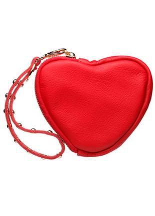 Женский красный кожаный кошелек gato negro в форме сердца, руч...