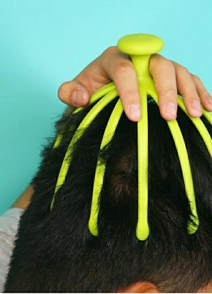 Массажер-антистресс для головы 12 пальцев осьминога