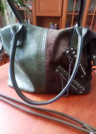 Красивая качественная сумка из экокожи
