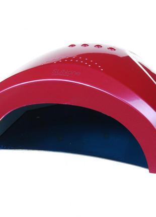 Лампа suni one 48w uv/led розовая