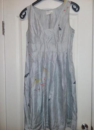 Шикарное платье натуральный шелк (44-46)