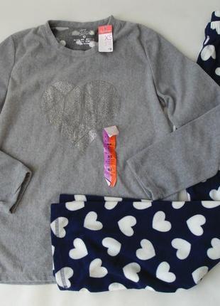Пижама свитер-штаны флис primark love to lounge англия 34-36, хс