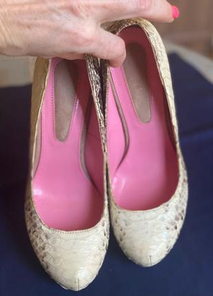 Туфли из кожи питона Yarose Shulzgenko
