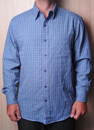 Стильная сине-фиолетовая рубашка bhs акция 1+1= 3