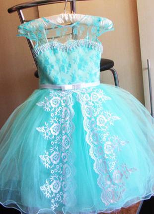 Очень нежное и красивое платье на выпускной размер 116см