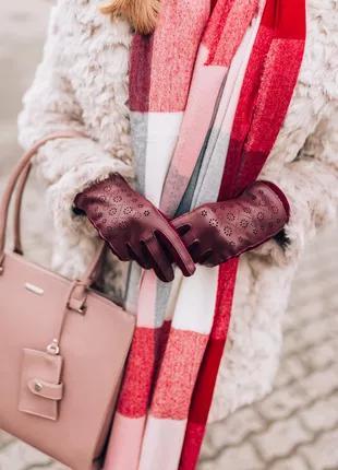Теплые сенсорные перчатки перфорация