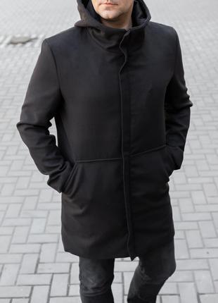 Пальто мужское весеннее осеннее до 0*С кашемировое с капюшоном...