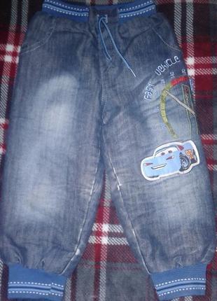 Зимние тёплые утепленные штаны брюки джинсы  детские
