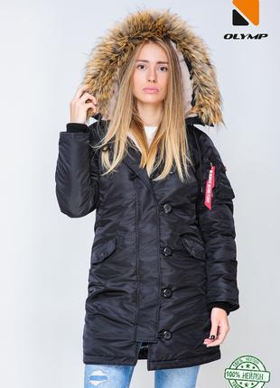 Женская зимняя парка Аляска Mate до -30*С черная | Куртка женс...