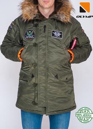 Зимняя парка мужская Аляска Flight до -35*С хаки | Куртка мужс...