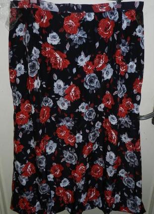 Красивейшая,нарядная,длинная юбка-баллон,большого размера