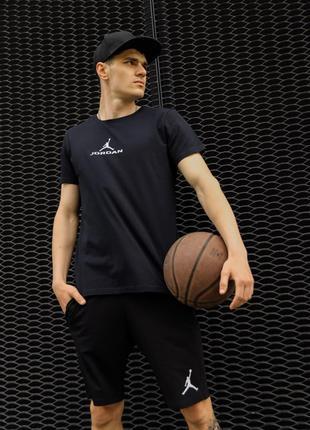 Шорты мужские спортивные Jordan черные | Мужские шорты летние ...