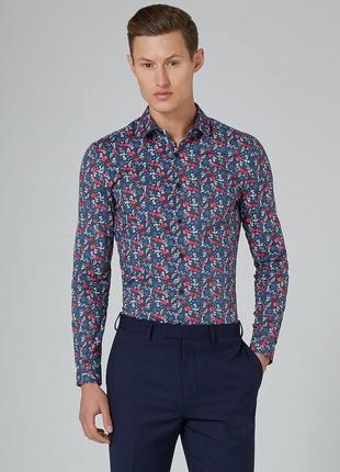 Рубашка topman, floral print !